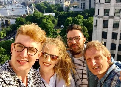 Joey, Charlotte, David and Ian